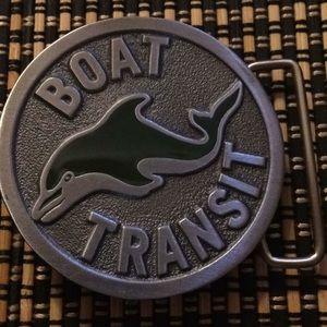 "Dolphin ""Boat Transit"" vintage belt buckle NEW"